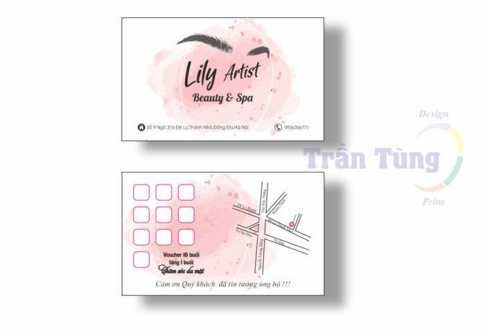 card visit đẹp spa - makeup